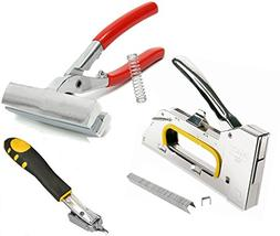 4-In-1,Premium-Quality Staple Gun,2400-Pack Staples,Firm and