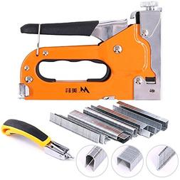 Swpeet 3-in-1 Staple Gun Kit with Staple Remover and 600 Sta