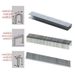 1000 Pcs T/U/Door Shaped Staples 6.3/2/8 mm Nails For Staple
