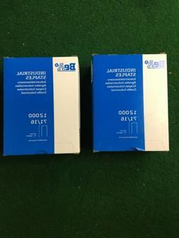 "2 - Boxes 12000 71/16 16mm 5/8"" Upholstery Staple 22 Gauge B"