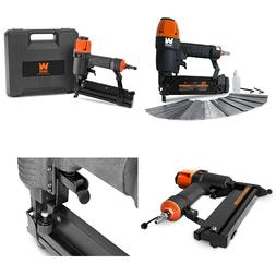 2-in-1 Pneumatic Brad Nailer and Stapler with Carrying Case