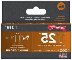 """Arrow Fastener - T25 Round Crown Staple, 9/16""""; 1,000 pack"""