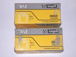 "3 Boxes Rapid 1/4"" 6mm staples  for R19 size Bat Hammers and"