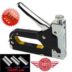 3 in 1 Hand Staple Gun Heavy Duty DIY Functional Tacker Chro