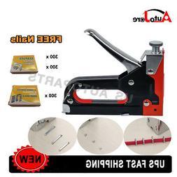 3-In-1 Manual Staple Gun Stapler Tacker Fine Stapler Tool Wo