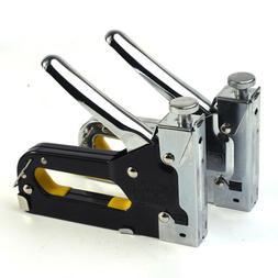 3in1 Staple Nail Gun Manual Heavy Duty Stapler Tacker Powerf