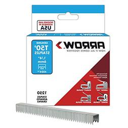 504 Genuine T50 1/4-Inch Staples Flat Crown with 3/8-inc wid
