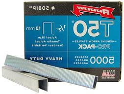 Arrow 508-IP T50 1/2-Inch Staples, 5000-Pack