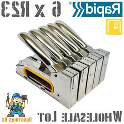 6x Rapid R23 Staple Gun / Stapler / Tacker Ergonomic Finelin