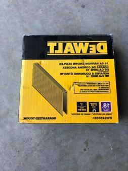 DEWALT 7/32 inch Narrow Crown Staple Gun Stapler 5000 Pack S