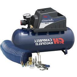 Air Compressor, Portable, 3 Gallon Horizontal, Oilless, w/ 1