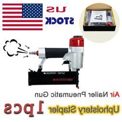 Air Pneumatic Stapler Wire Framing Upholstery  Staple Gun na