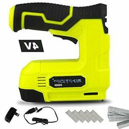 BHTOP Cordless Staple Gun, 4V Power Brad Nailer/Staple