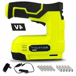 BHTOP Cordless Staple Gun, 4V Power Brad Nailer/Staple Naile