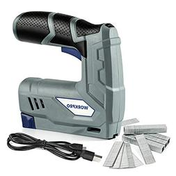 WORKPRO Cordless Staple Gun - 3.6V Electric Stapler, Recharg