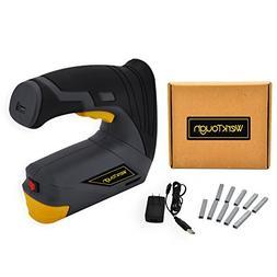 Werktough CSG01 Cordless Staple Gun DIY Electric Stapler wit