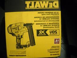 DEWALT DCN681B 20V MAX XR 18 Gauge Narrow Crown Stapler NEW