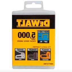 DEWALT DWHTTA7065 Heavy Duty Narrow Crown Staples 3/8 Inch C