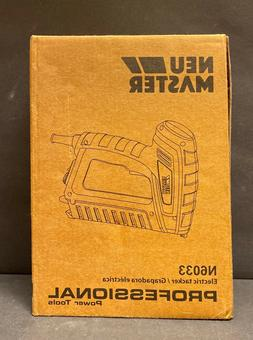 Electric Brad Nailer Neu Master Staple Gun N6033 With Contac