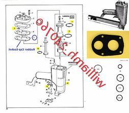 Paslode Finish Nailer Stapler MU-112-N18 O-ring Kit + Rubber
