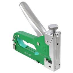 uxcell Green Silver Tone Adjustable Screw Staple Gun Tacker