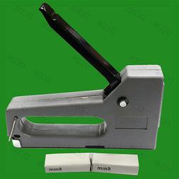 Grey Staple Gun With 200, 100x 6mm & 8mm Staples Home Office