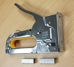 Hand Staple Gun Tacker JT21 Chromed with 100 Staples