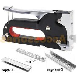 Heavy Duty 3 in 1 Hand Staple Gun Tacker Chromed with 600 St
