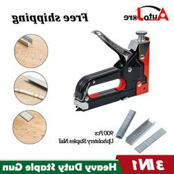 Heavy Duty Staple Gun 3 in 1 Hand Stapler Tacker with Uphols