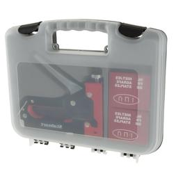Light Staple Gun in Case Starter Kit with 600 Staples Fabric