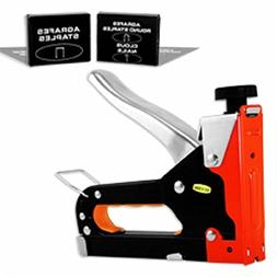 3 Way Heavy Duty Stapler Staple Gun Upholstery Wood Ceiling