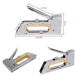 Heavy Light Duty Staple Gun Furniture Stapler Tacker Powerfu