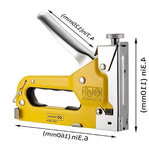 Staple Stapler with Staples Heavy Hand Operated Gun Power Brad Nailer Tacker Wooden, Furniture,Decoration, Fxing BONUS 400 Free