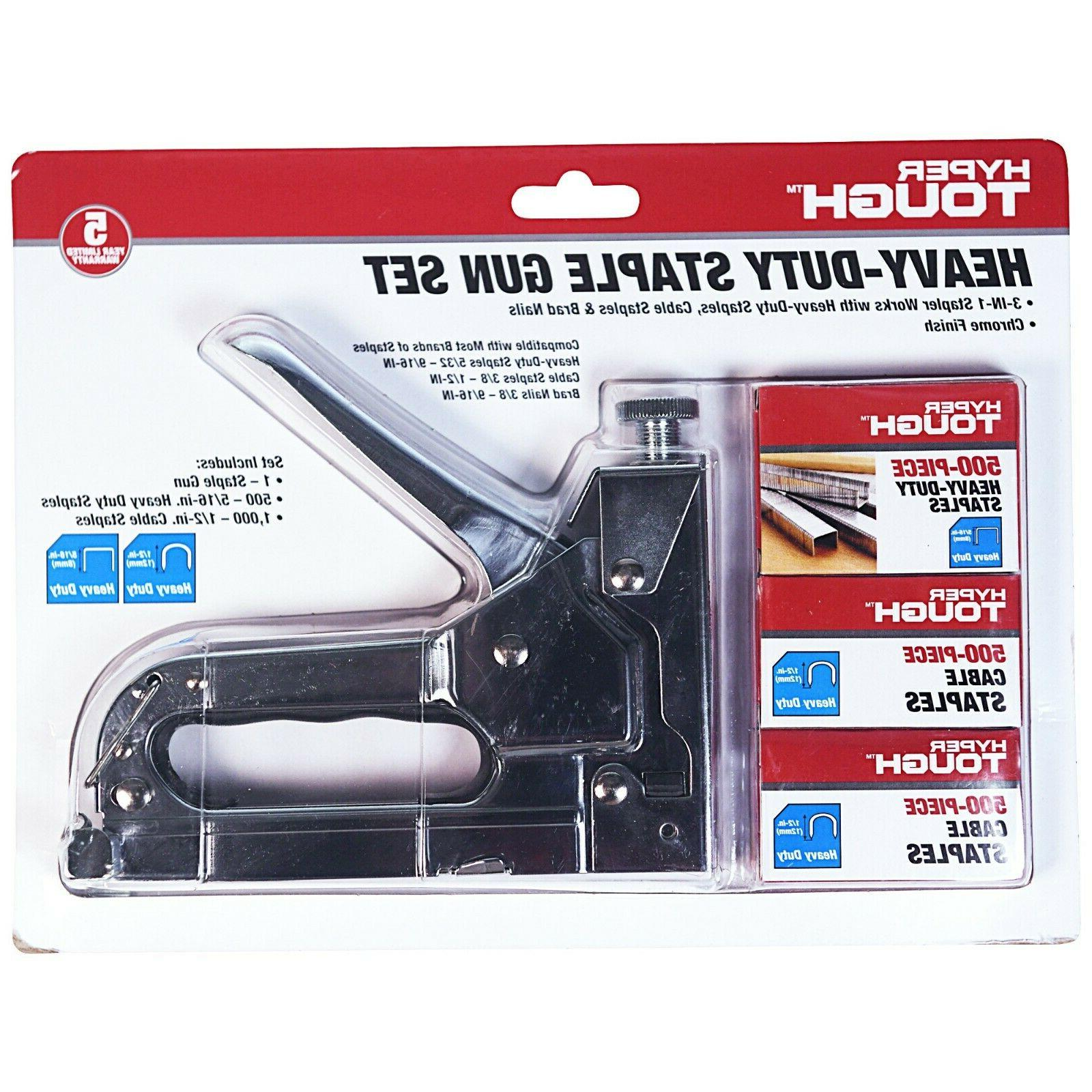 3 in 1 heavy duty staple gun