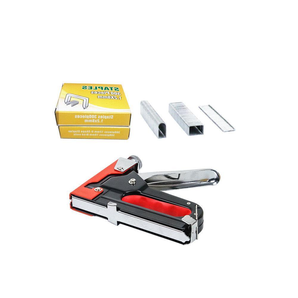 3in1 Staple Gun Stapler With 600 Staples tool