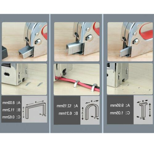 3in1 Nail Manual Heavy Stapler Tacker W/
