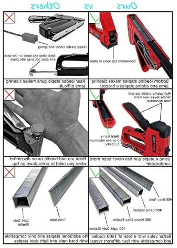IMPACT TOOLS 4 IN 1 HEAVY DUTY STAPLES
