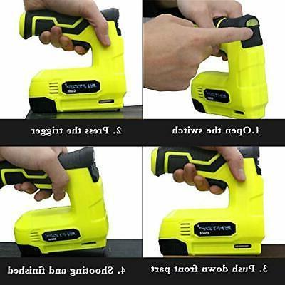 BHTOP Staple 4V Power Nailer/Staple Cordless Gun