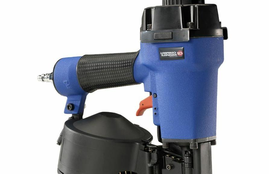 Blue Roofing-Gauge Adjustable Guide Roundhead 1/4-in Nailer