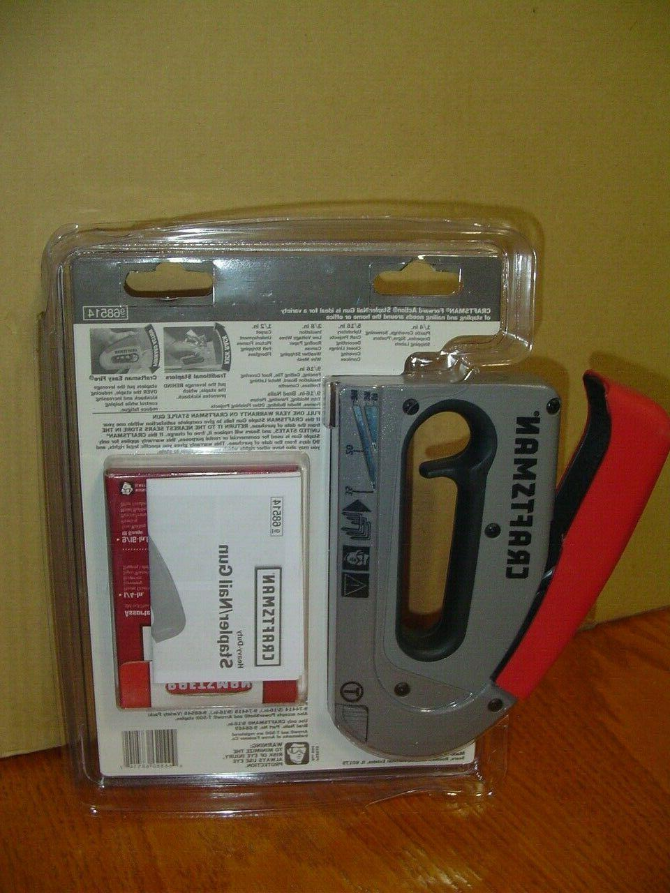 BRAND Duty Staple Gun & Staple U.S.A.Craftsman