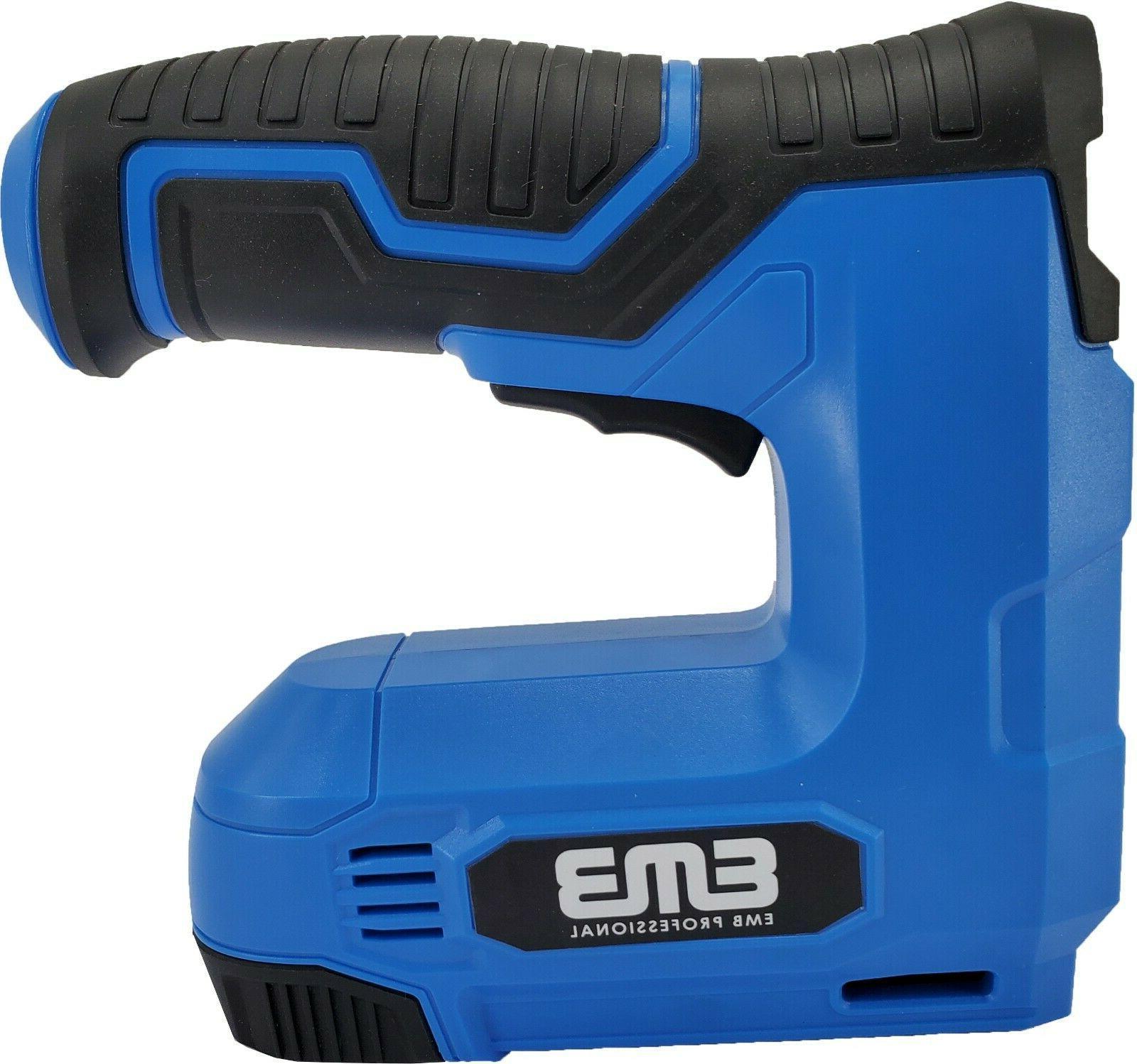 EMB Cordless Staple 4V Power Brad Nailer/Staple Nailer Electric Stapler