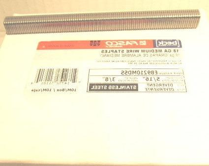 eb9210mdss stainless steel long staples