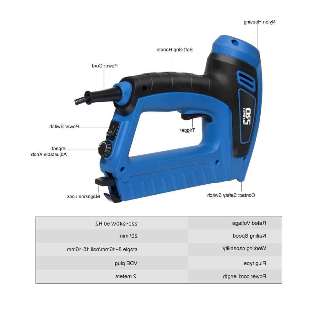 PROSTORMER Electric 2000W <font><b>Power</b></font> Adjustable Nail <font><b>Gun</b></font> Upholstery