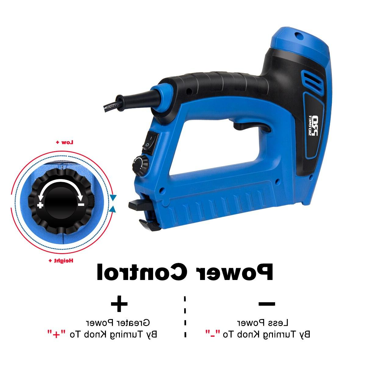 PROSTORMER Electric 2000W <font><b>Power</b></font> Nail Woodworking Upholstery <font><b>Nailer</b></font> Stapler