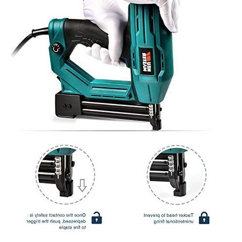 Electric Staple/Brad Gun, NEU MASTER Heavy-duty Tool for Improvement Narrow and brad 100pcs