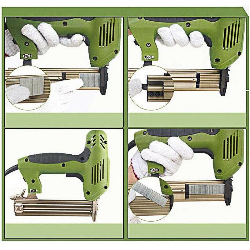 <font><b>Electric</b></font> <font><b>Staple</b></font> Nail 2 1 Frame 220V Woodworking Power Tool Door Wallboard Nailing Straight Nail