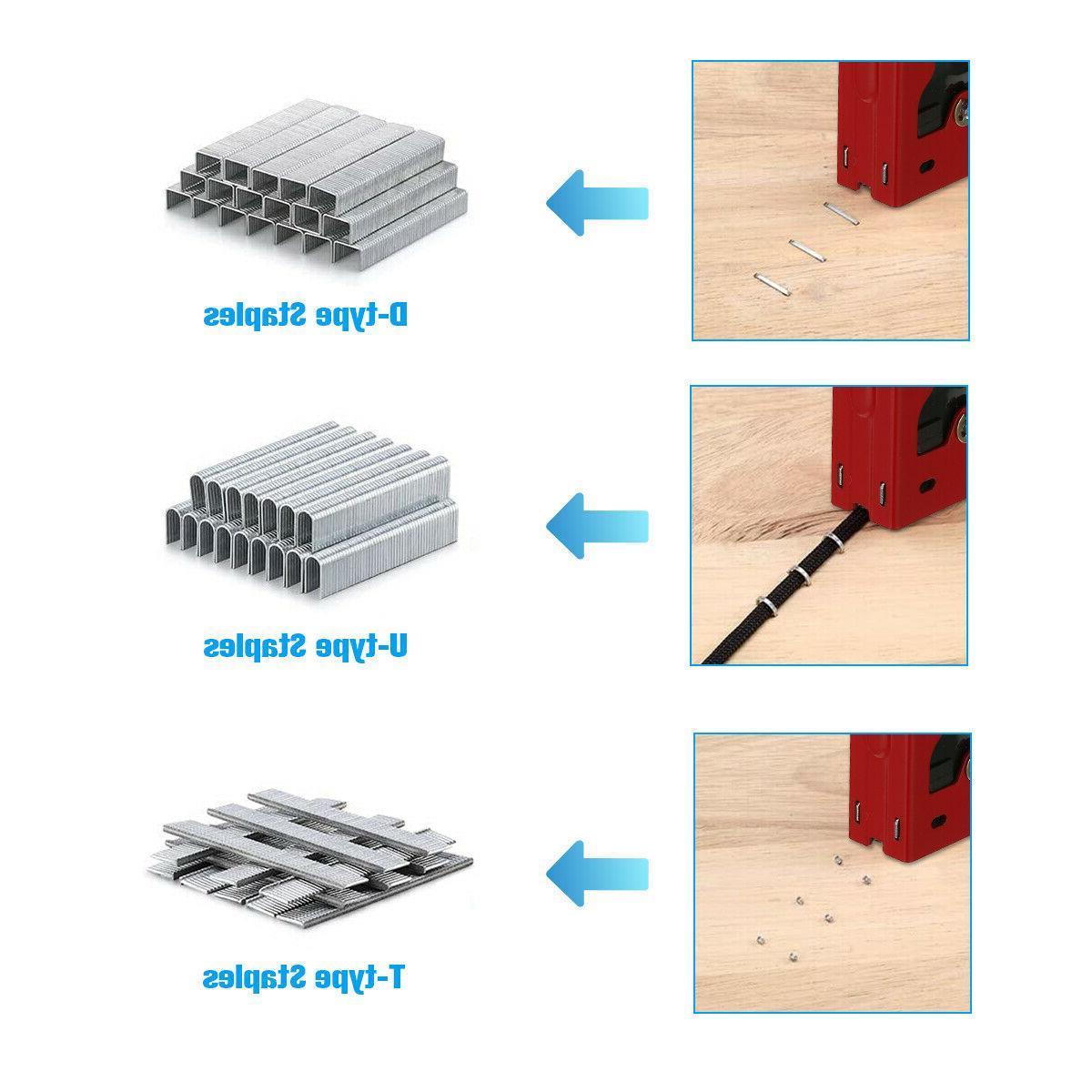 Heavy Duty Stapler Tacker + nails 3 Cordless Stapler
