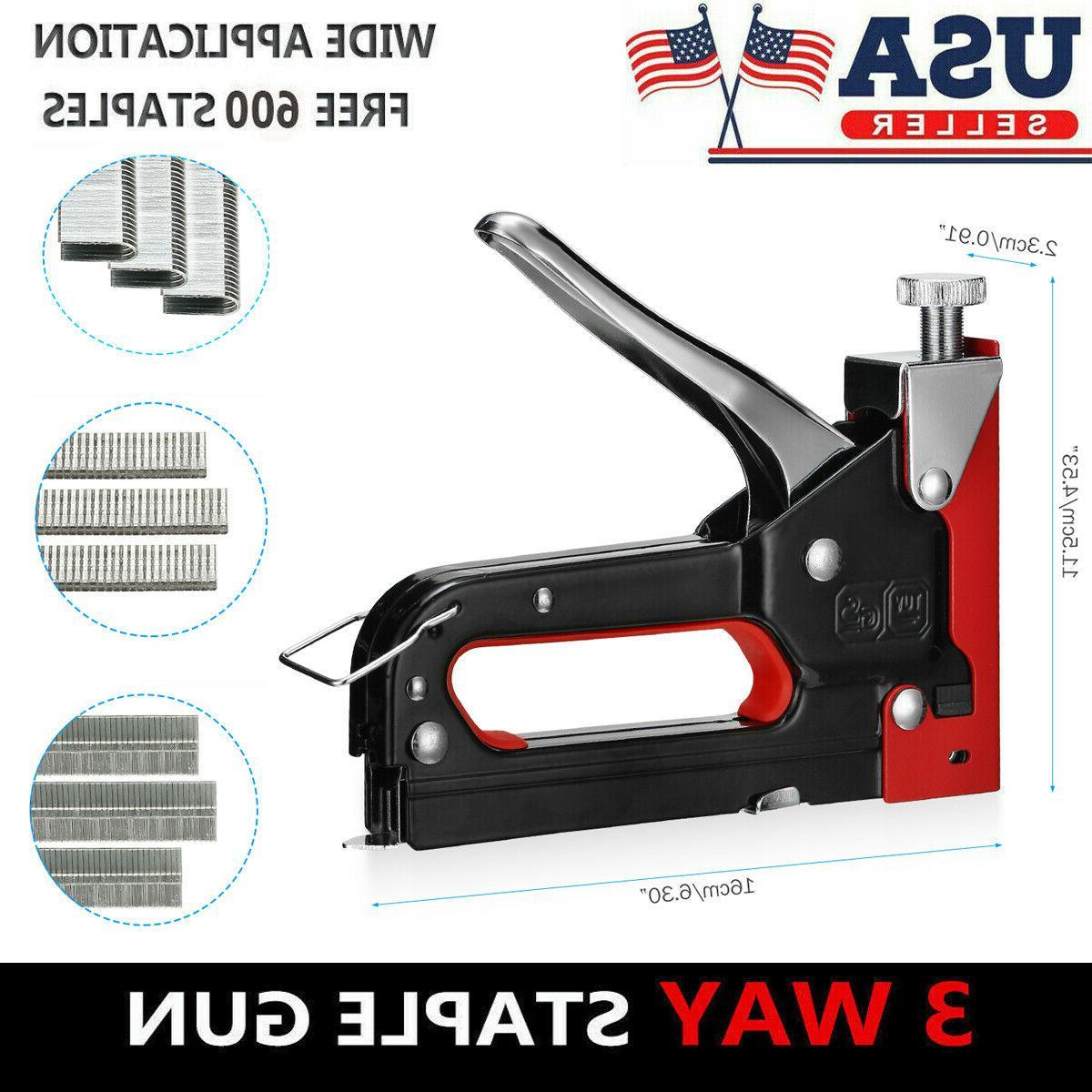 heavy duty staple gun stapler tacker 600