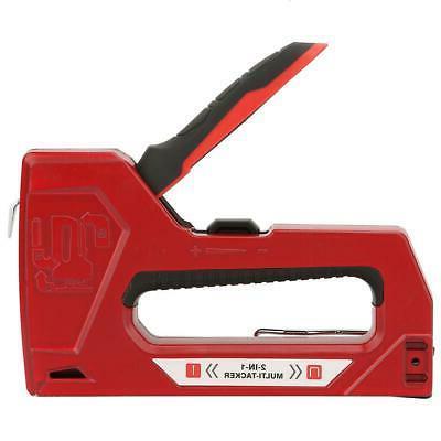 Heavy Duty Staple Gun Stapler Tacker Powerful Hand Tool Wood