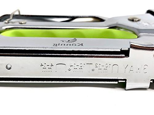 Könnig Staple 1 with Staple Gun, Staple Gun Tacker Tool Staples